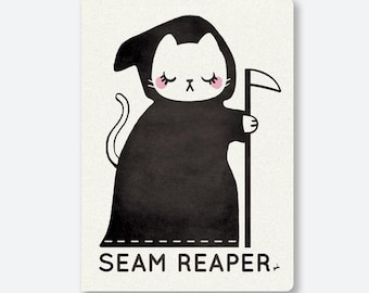 """Seam Ripper Sewing Notebook - Sarah Watts Original Artwork - Notebook Size 5.4"""" x 7.5 inches - Listing is for ONE Notebook"""