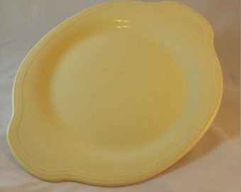 Edwin Knowles China Company Platter Vintage 1940s Pale Yellow