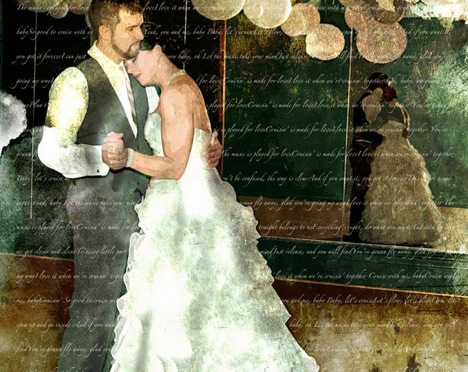Custom Unique Wedding Prop or Parents Anniversary Gift Paper Gift or Canvas Pop Art 16x20