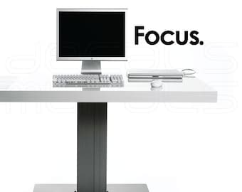 Wall Decals FOCUS Vinyl lettering interior decor for home and office by Decals Murals