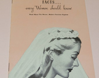 1940s Zonite Intimate Physical Facts every Woman should know