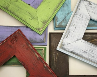 Distressed Frame, Ashley Picture Frame, Hand Painted, Rustic Home Decor, Variety of Sizes Available, 16x20, 8x10, 5x7, 4x6 And More