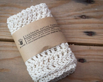 Handmade Crochet Facecloth | 100% Pure Cotton for Sensitive Skin | Individually handmade | Perfect for our natural handmade soap bars