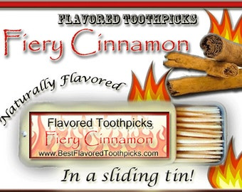 Cinnamon Flavored Toothpicks - 70+ Flavors! Cinnamon Toothpicks, Cinnamon Toothpick, Party Gifts, Unique Gifts For Him, Gifts For Men, Hot!