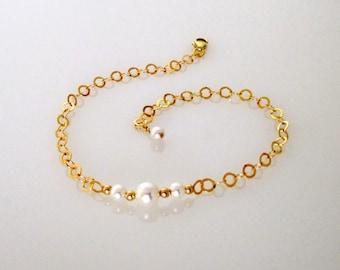 Swarovski pearl gold bracelet, Swarovski pearl bracelet, Pearl gold bracelet, Swarovski bracelet, Pearl bracelet, Pearl bracelet gold