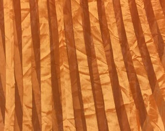 5.50 meters has orange organza strips satin, 150CM, 73