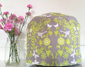 Instant Pot Cover - Reversible - Lime Green and Grey Floral and Geometric