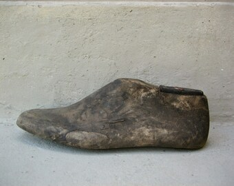 Rustic Wooden Shoe Form
