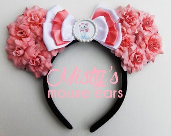 Inspired Marie from The Aristocats Rose Mouse Ears