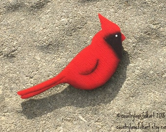 cardinal refrigerator magnet, kitchen magnet, hand painted, gift for gardeners, fridge magnet, spring home decor, mother gift from daughter