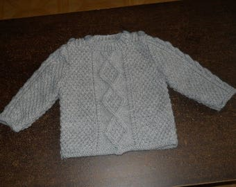 Irish sweater for baby size 12 months
