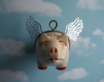 When Pigs Fly, Flying Pig Vintage Piggy Bank