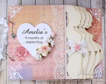 Personalized Pregnancy Journal Pregnancy Keepsake Album Expecting Mom Gift Mom to Be Memory Book Pregnancy Scrapbook Album