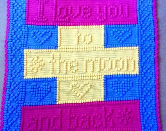 Love you to the moon blanket