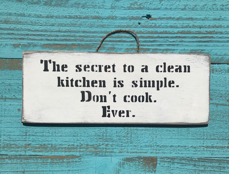 Das Geheimnis um eine saubere Küche Zeichen Kunst Wand Küche