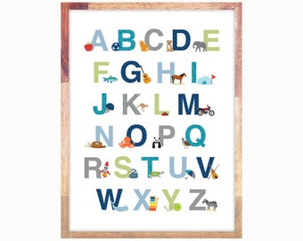 "Printable Alphabet for Download 13x19""  - Personal Use"
