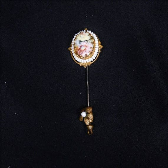 Miriam Haskell Stick Pin / Haskell Stickpin / 1940s Fashion Designer / Couture / Wedding