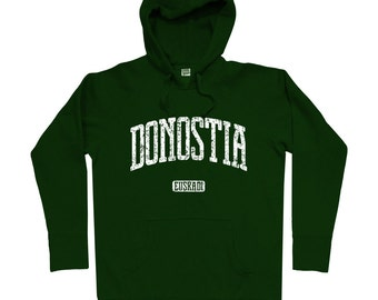 Donostia Spain Hoodie - Men S M L XL 2x 3x - San Sebastian Spain Hoody, Sweatshirt, Euskadi, Basque Country, Spanish, España - 4 Colors