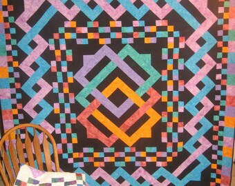 SALE, Buy 2/Get 1 Free -- MYSTICAL TWIST, pdf quilt pattern,  full/queen size (king)