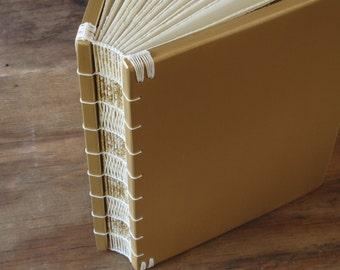 Wood Wedding Guest Book or Journal Sketchbook  - Elegant Vintage Gothic Victorian gold wedding alternative anniversary gift - Ready to Ship