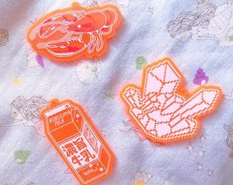strahlend orange Actylic Charme Kunststück. Pixel-Kunst von bitmapdreams