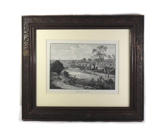 Antique Print of Barnard Castle: The Town