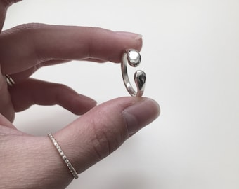 The Embrace - sterling silver open ring -