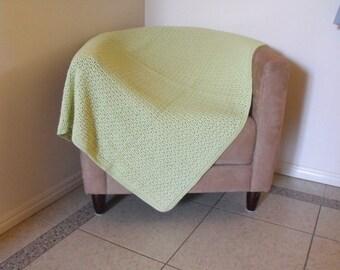 Apple Green Throw Rug / Throw Blanket