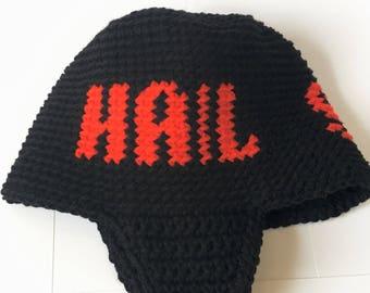 Hail Satan ear flap hat