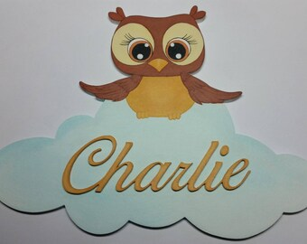 OWL door plaque - first name choice