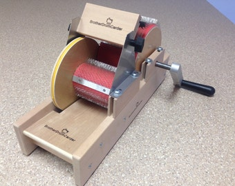 """New Baby Brother 4"""" wide mini size drum carder W/Packer Brush and Doffer"""
