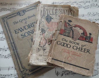 Charming collection of tattered antique books