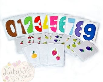 Math game set Number cards Felt board game Homeschool Educational toy Learning toy Montessori Counting Preschool activities Children gift