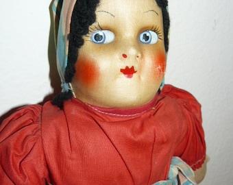 Vintage Georgene Cloth Doll International  Series 1940s Slovak Polish Russian
