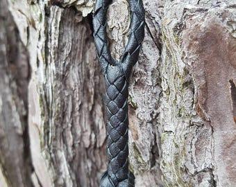 Shorty Base Loop, Kangaroo Leather Braid Loop