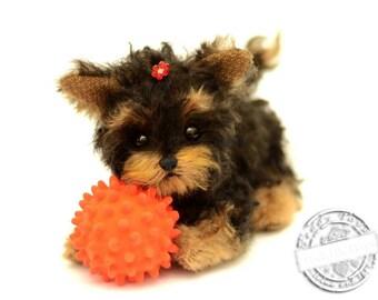 Puppy York Lina, (made to order)Teddy York ,Toy ,Terrier ,dog ,plush dog,plush toy,teddy