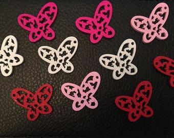 10 wooden butterflies