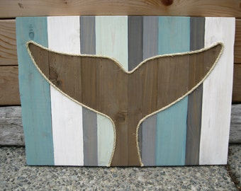 Whale Tail - Whale Decor - Rustic Home - Beach Decor