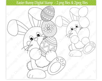 Easter Digital Stamps,Easter Bunny Stamp,Easter Clipart,Digital Stamps,Easter Bunny Clipart,Easter Eggs Clipart,Easter Chicks,Scrapbooking