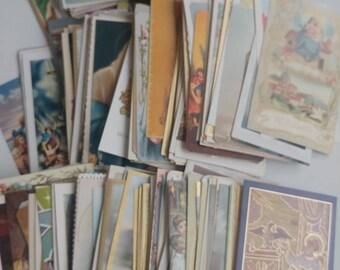 Large lot vintage holy cards prayer cards 300+