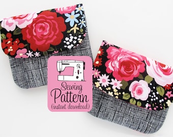 Pleated Pouches PDF Sewing Pattern | Sew small storage pouches in five sizes with this beginner friendly pattern.