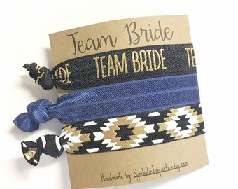 Bachelorette Party Favors, Hair Ties for Bachelorette Party, Team Bride Party Hair Tie, Team Bride Bachelorette Party, Bachelorette Hair Tie