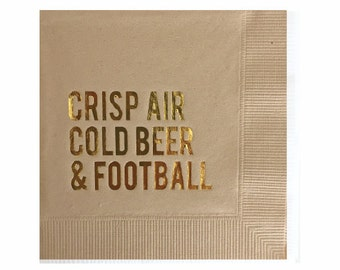 Football Napkins - Super Bowl Decorations - Tailgate Party Napkins