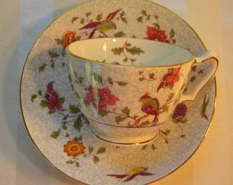 TEACUP, Vintage Crown Staffordshire Bone China Teacup