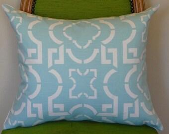 Cool Aqua Linen Pillow Cover