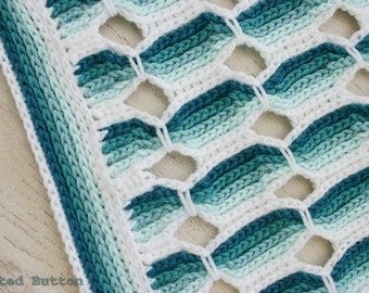 Crochet Pattern, Candy Stick, Baby, Afghan, Throw, Blanket