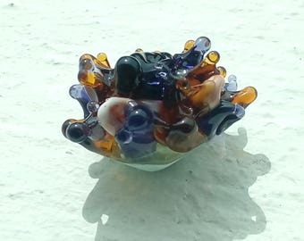 Exotic dahlia flower - handmade Lampwork Glass