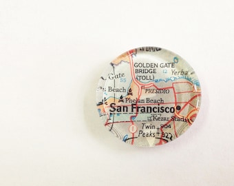 NEW Vintage Map Magnet - Ready to ship - San Francisco CA