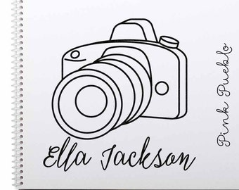Large Personalized Photography Rubber Stamp, Custom Camera Stamp