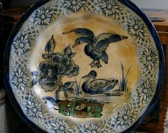 1933 Chicago World's Fair Flo Blue Plate
